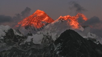 Mount Everest Lhotse Sonnenuntergang
